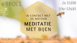 In contact met de natuur - meditatie met bijen
